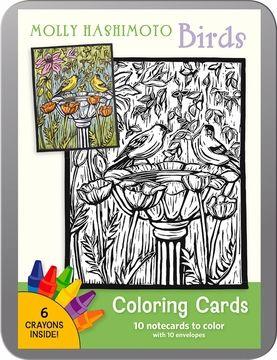 Pomegranate Molly Hashimoto Birds Coloring Card