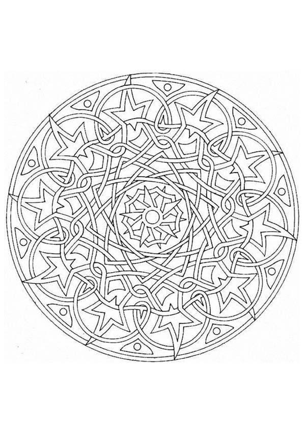 mandala n 61 601 850 coloring pages for all ages pinterest mandalas. Black Bedroom Furniture Sets. Home Design Ideas