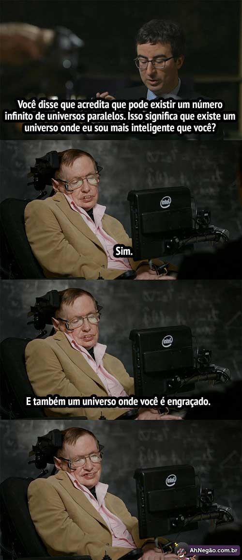 Stephen Hawking mostrando que ainda tem #malandragem #Humor