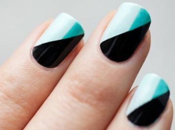 Геометрические простые рисунки на ногтях
