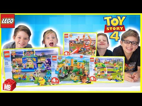 Lego Toy Story 4 Unboxing Build Play Buzz And Woody S Carnival