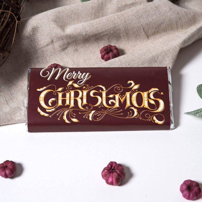 Personalised Chocolate Bar - Merry Christmas & A Happy New Year | GettingPersonal.co.uk