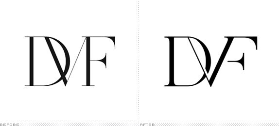Diane Von Furstenburg Logo, Before and After. Diego Marini.