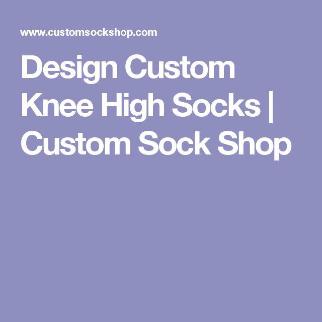 Design Custom Knee High Socks | Custom Sock Shop