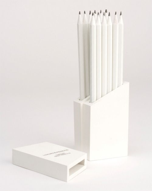 White Pencils: Whitepencils, Packaging Design, Pure White, White, Object, Products, Things White, Color White