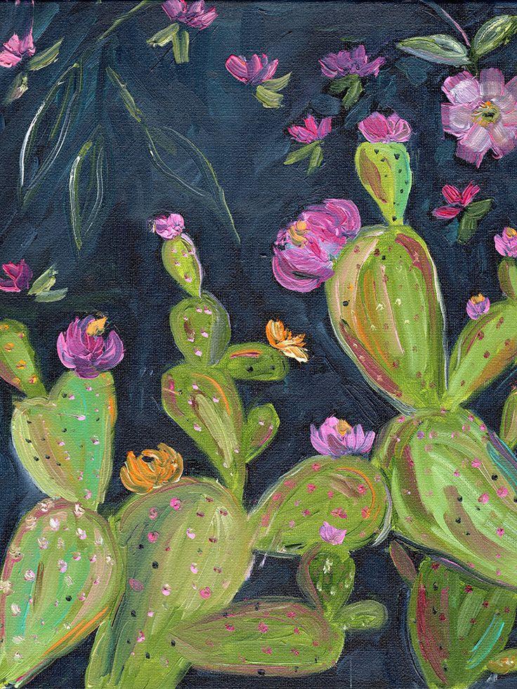 Boho Desert Art Series - Prickly Pear Succulent 2 - Print