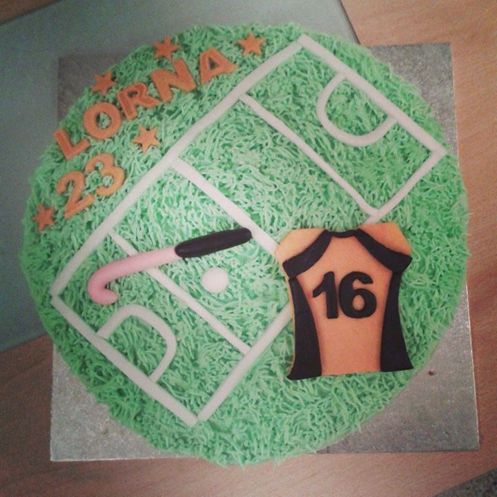 Field Hockey Cake. March Town Hockey Club Maria's Cake Shack