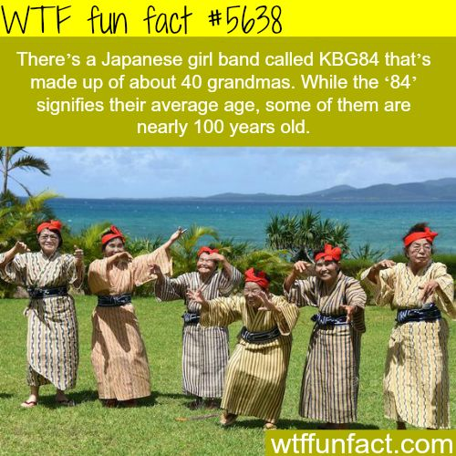 Japanese band that only consist of grandmas - WTF fun fact๏̯͡๏﴿ Its a Fact