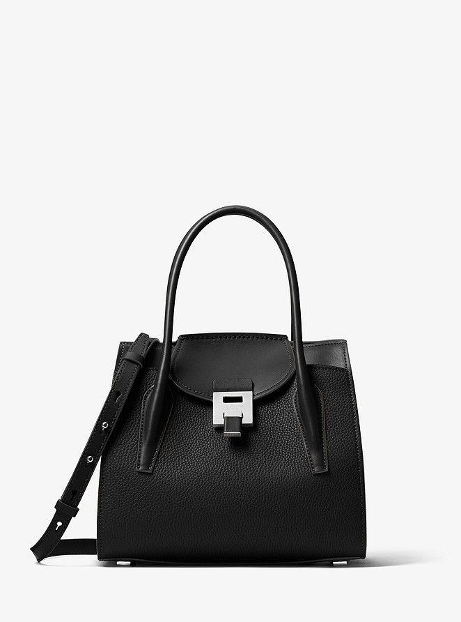 f111f024c20867 Michael Kors Bancroft Medium Pebbled Calf Leather Satchel in 2019 |  Handbags | Leather satchel, Calf leather, Satchel