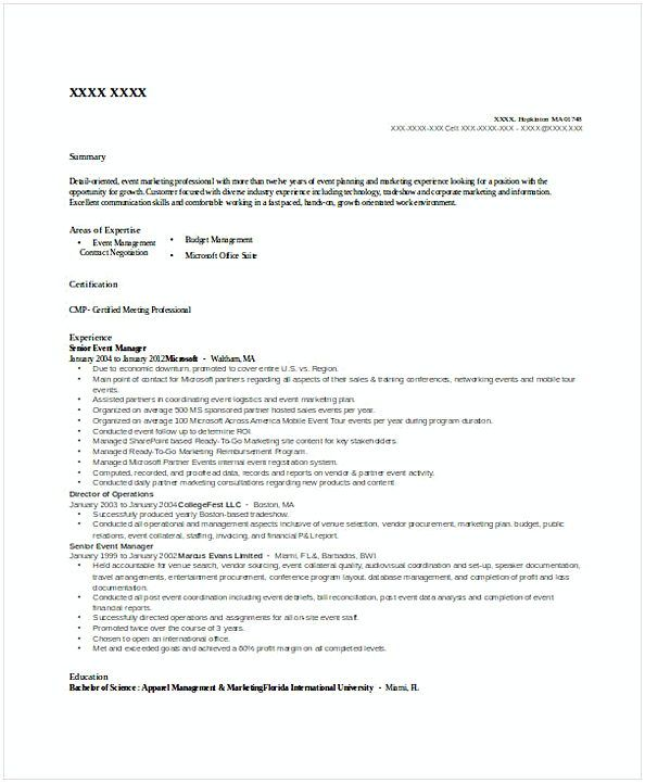 Senior Event Manager Resume General Manager Resume Find The Things That You Need To Know For Your General Ma Manager Resume Resume Template Examples Resume