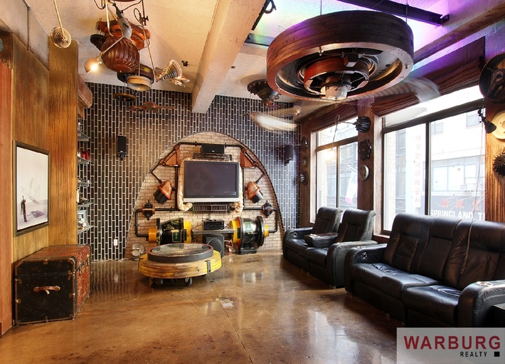Steampunk living room the rox pinterest steampunk for Steampunk living room ideas