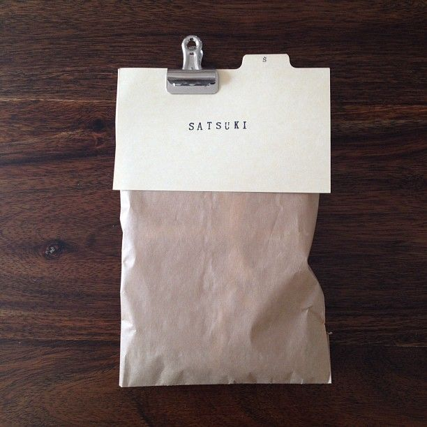 simple packaging | a great way to include a recipe with a food gift