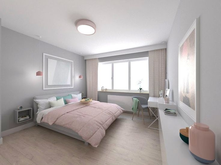 house in pastel colors, interior design, bedro, sypialnia w pastelach. www.atoato.pl