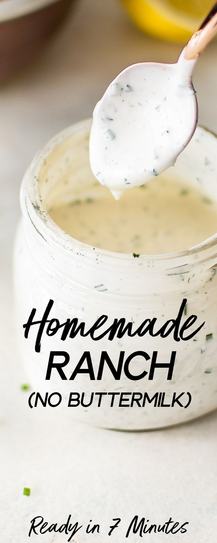 This Easy Homemade Ranch Dressing Recipe Is Fast Healthy Zesty And Tastes So Much Better Homemade Ranch Easy Homemade Ranch Dressing Homemade Ranch Dressing