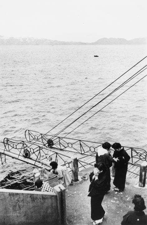 "Ikko NARAHARA :: Island without Green―Gunkanjima: Watching the Funeral Boat Leaving from ""Human Land″, 1954-57"
