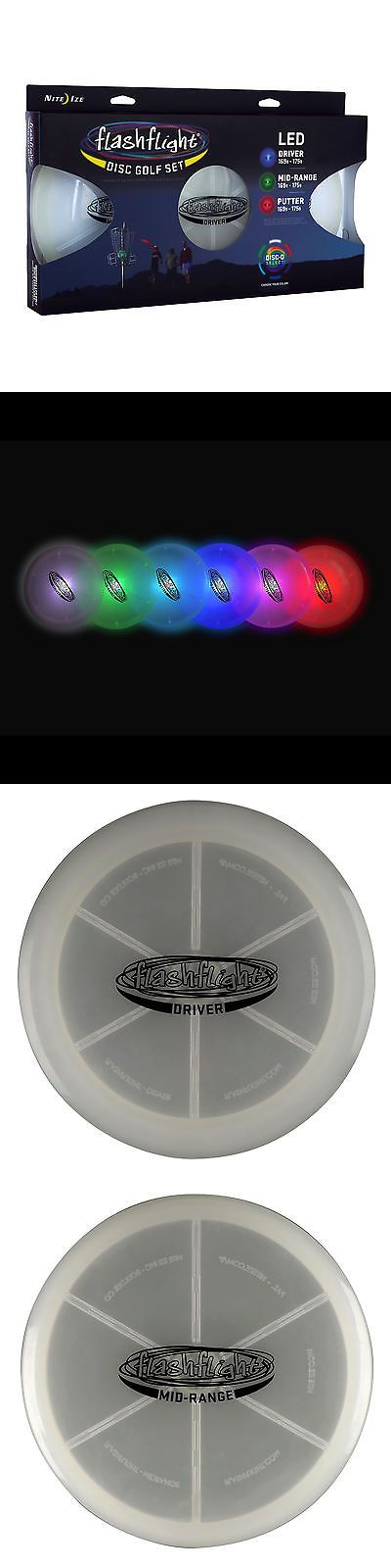 Disc Golf 20851: Nite Ize Flashflight Led Disc Golf Set Disco Putter Mid-Range And Driver Frisbee -> BUY IT NOW ONLY: $47.99 on eBay!