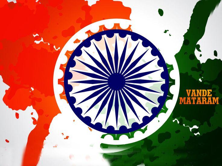 Vande Mataram indian flag images free happy independence day