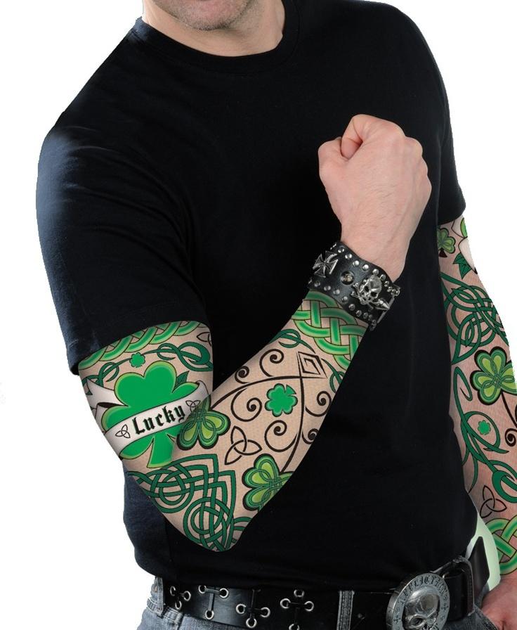 Mangas tatuadas San Patricio. Disponible en www.vegaoo.es
