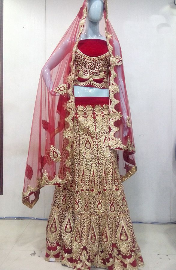 Mehroon lehenga with dupatta worked in tilla, zardosi embroidery for wedding & sangeet occasions by Nilibar.Shop now : www.nilibar.com... #shopnow #nilibar #traditional #designer #Mehroon #lehenga #zardosi #embroidery #wedding #sangeet