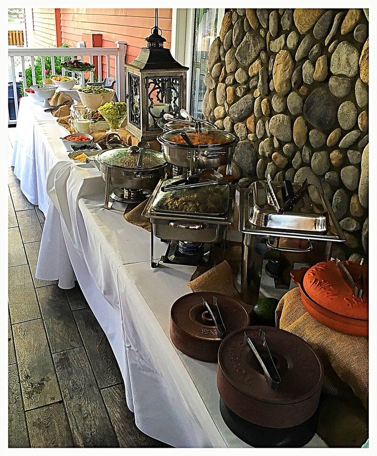 Taco bar buffet
