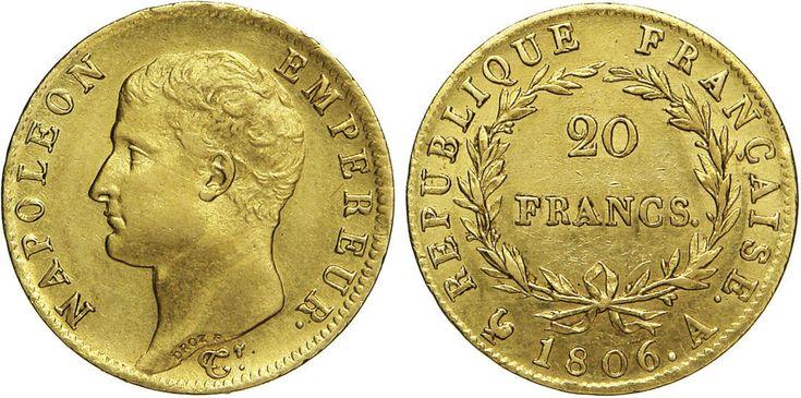 NumisBids: Numismatica Varesi s.a.s. Auction 65, Lot 724 : NAPOLEONE I (1804-1814) 20 Franchi 1806 A (Parigi) Kr. 674.1 ...
