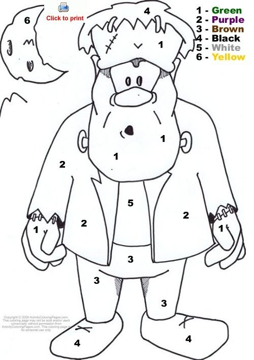 Turkey Coloring Pages With Math