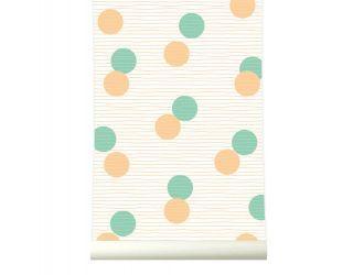 behangpapier Confetti Orange-Green