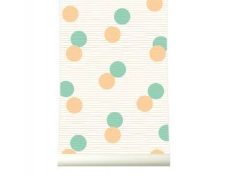 behangpapier Confetti Orange-Green