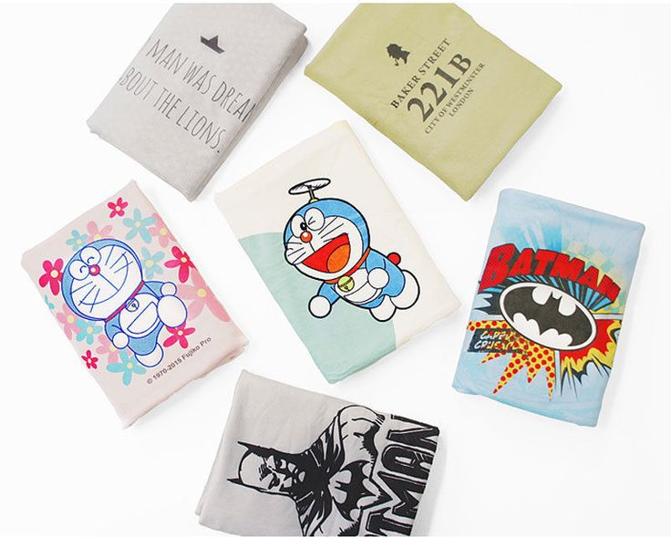 Sherlock The Old Man and The Sea Doraemon Batman Throw Blanket + Pouch by Aladin #Aladin #HollywoodRegency