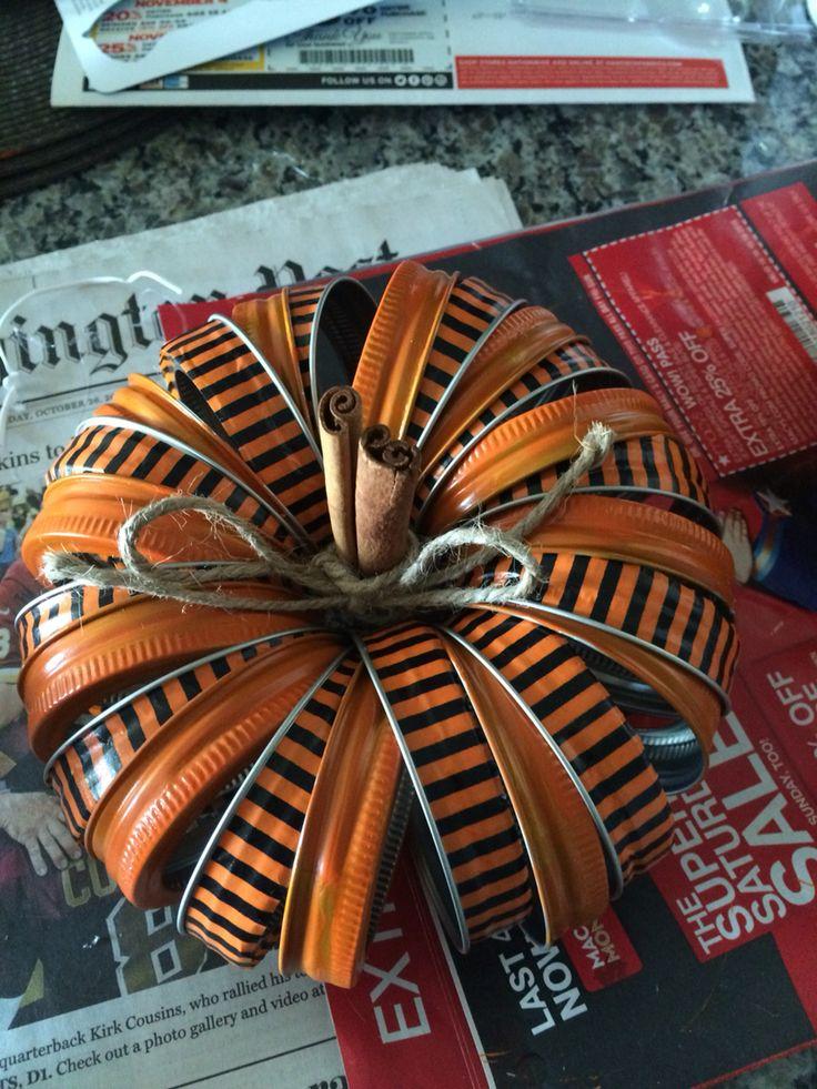 Canning jar lid pumpkin 2                                                                                                                                                     More