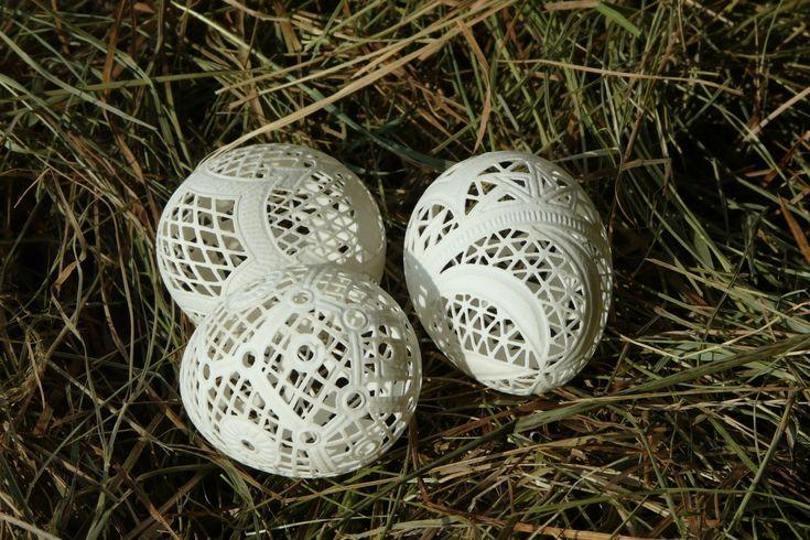 Pisanki ażurowe - jajo kurze