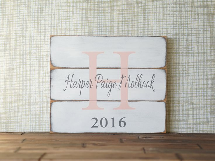 Custom Name Sign Wedding Nursery Name Sign Baby Boy