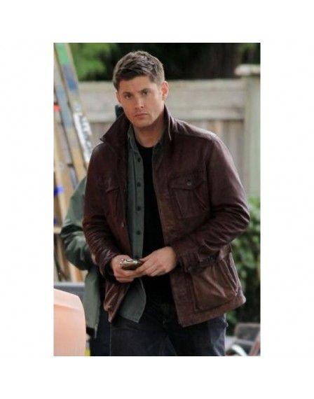Dean Super Natural Black Leather Jacket
