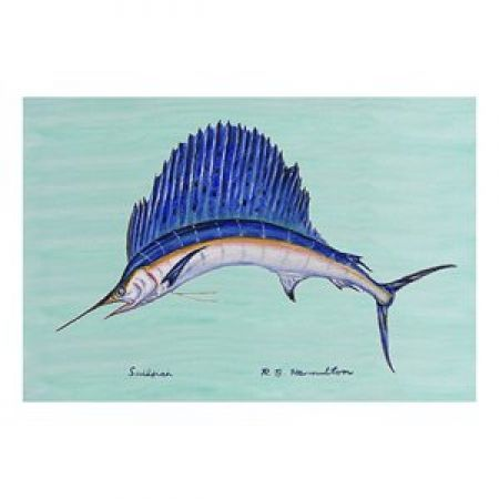 Coastal Sailfish Door Welcome Mat These floor mats are made of synt...
