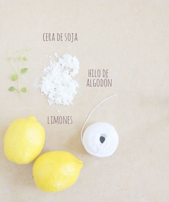 Velas con cáscara de limón antimosquitos. DIY (Hazlo tú mismo) - Organicus