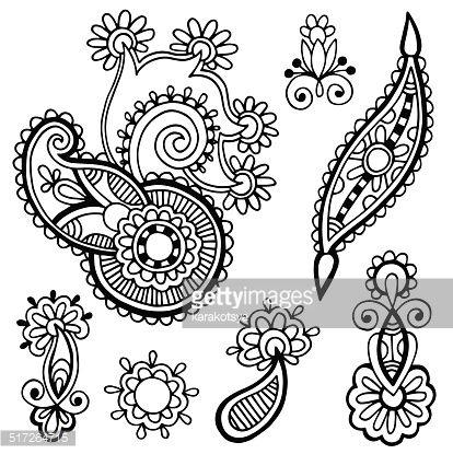 517264715-black-line-art-ornate-flower-design-gettyimages.jpg (414×415)