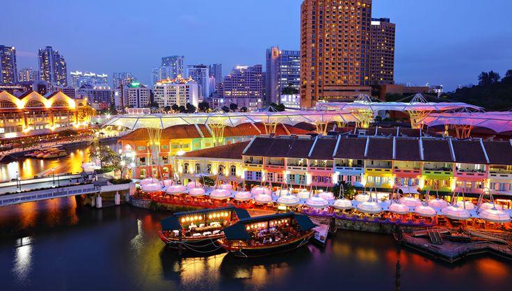リバーサイドの夜景(シンガポール)|赤の絶景|THE WORLD IS COLORFUL | 海外旅行情報 エイビーロード