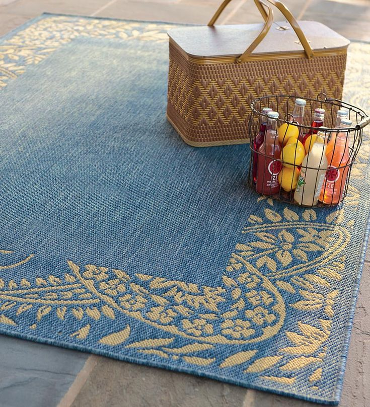 Image Of: Polypropylene Outdoor Rugs Blue