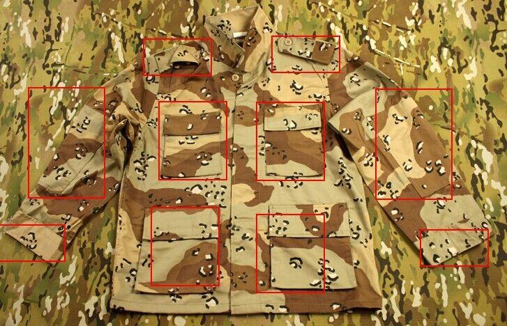 Армии сша военная форма для мужчин шестицветной пустынный камуфляж BDU костюмы для использования в войне PFC шоколадные маскировочный костюм BDU
