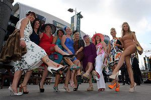 Aintree Ladies day: Aintree Ladies day ladies in heels