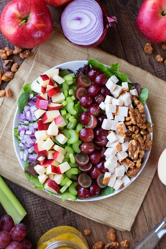 This chicken apple walnut salad is perfect for celebrating autumn's apple harvest - so many incredible flavors and textures in one delicious salad.