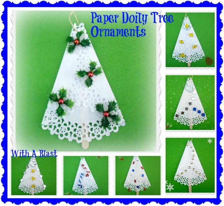 Imgenes De Christmas Crafts Using Paper Doilies