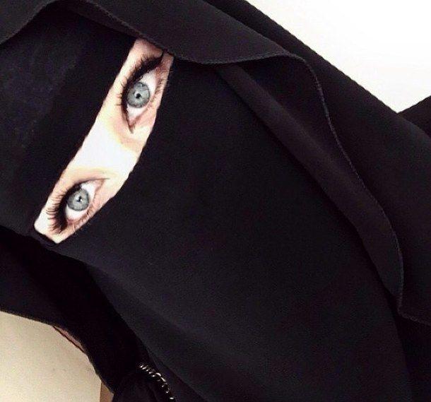 beauté, bleu, yeux, l'Islam