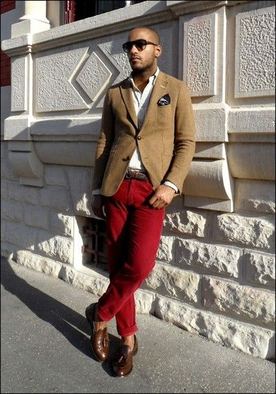 41 best Men's Red Pants Style images on Pinterest