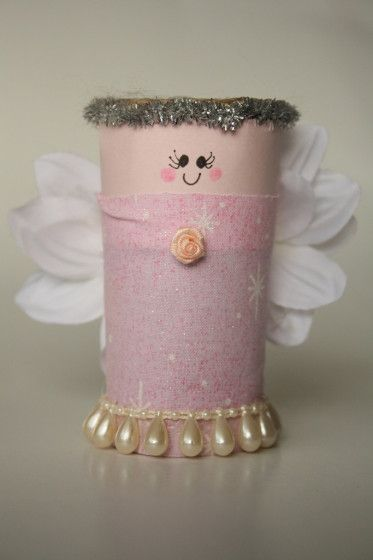DIY CRAFT **Toilet paper rolls**  A christmas toilet roll fairy.