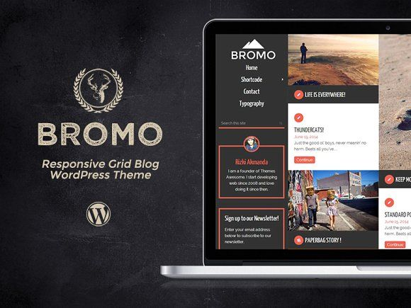 Bromo - Responsive Grid Blog Theme by Themes Awesome on @creativemarket