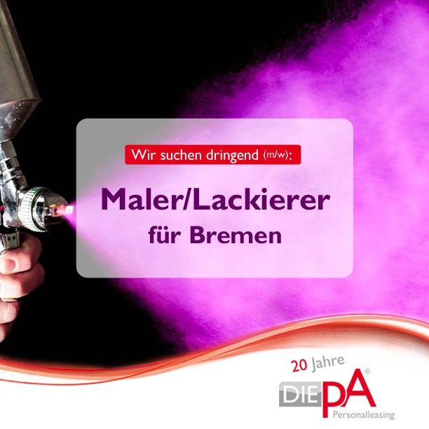 An alle, für die Farbflecken zum Berufsalltag gehören: Wir suchen Maler und Lackierer in Bremen!  . #maler #lackierer #farbe #lack #farbflecken #kunst #streichen #happy #bremen #delmenhorst #niedersachsen #arbeit #zeitarbeit #job #jobs #jobsuche #jobbörse #DIEpA #mitsicherheiteinguterjob!