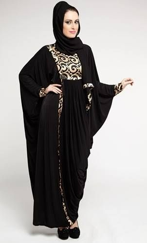 Latest Dubai Designer Abaya Gowns Designs Collection 2015-2016 (7)