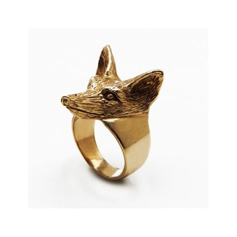 Gold Fox Ring by Emilie ThomasThomas Gold, Gold Foxes, Style, Wedding'S Ideas, Emily Thomas, Rings Gold, Foxes Rings, Weird Bridal, Bridal Accessories