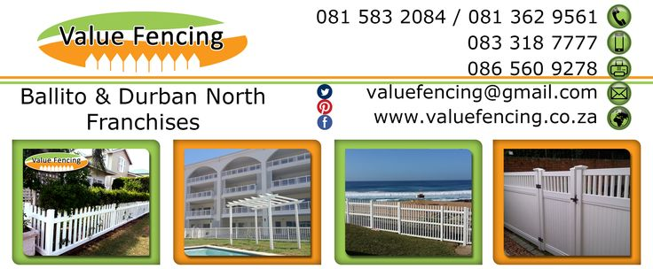 Contact Details for Value Fencing PVC Durban North to Ballito.